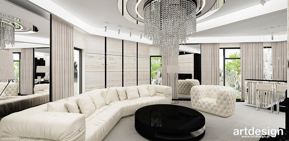 luksusowe aranżacje lampa kryształowa