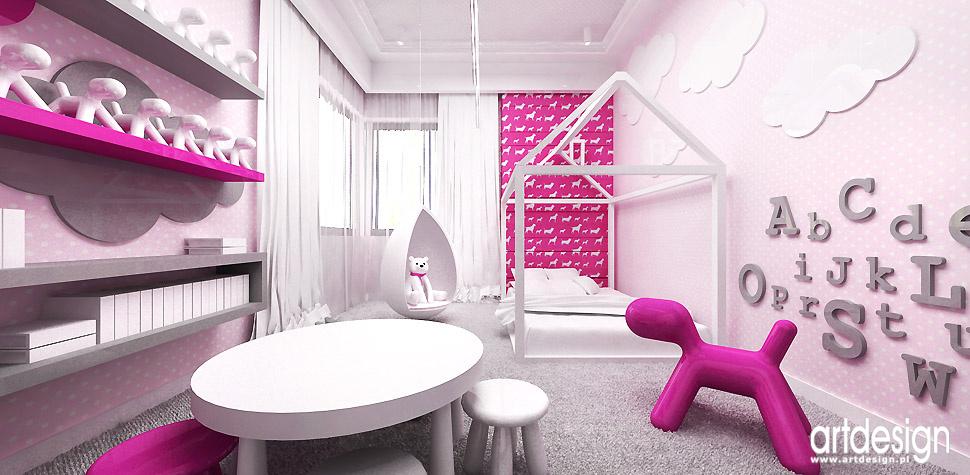 rożowy pokój dla dziewczynki inspiracje