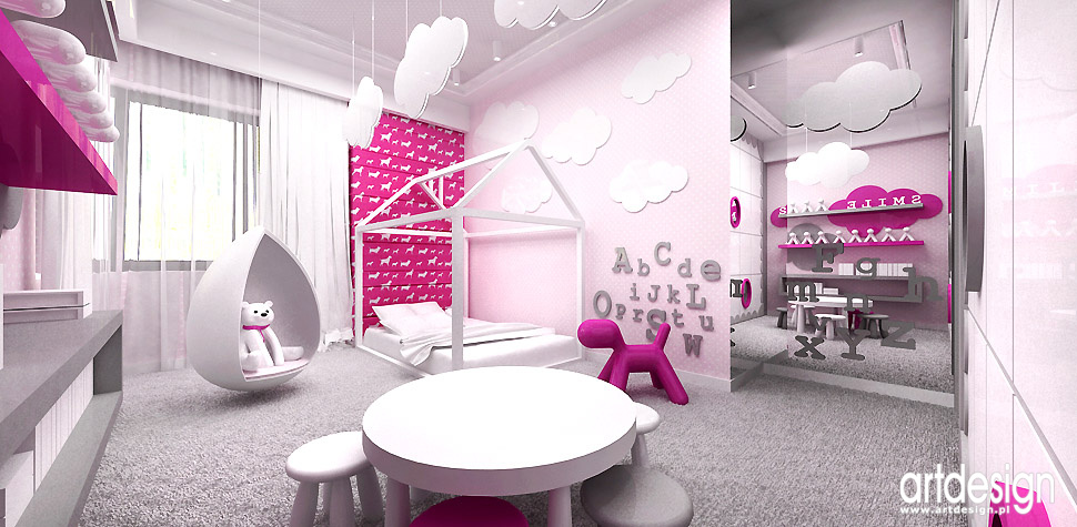 kolorowe wnętrza pokój dla dziewczynki