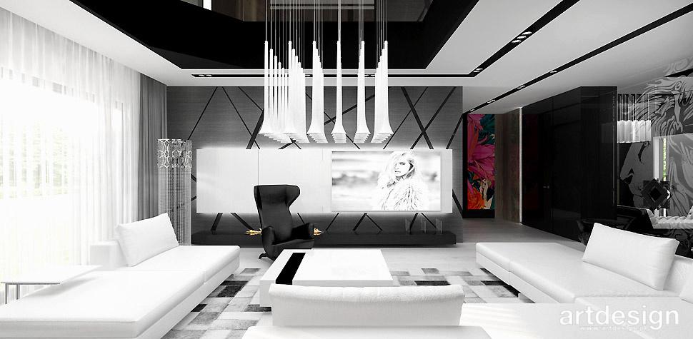 salon czarno bialy