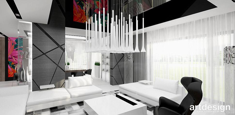nowoczesne wnętrze dom salon