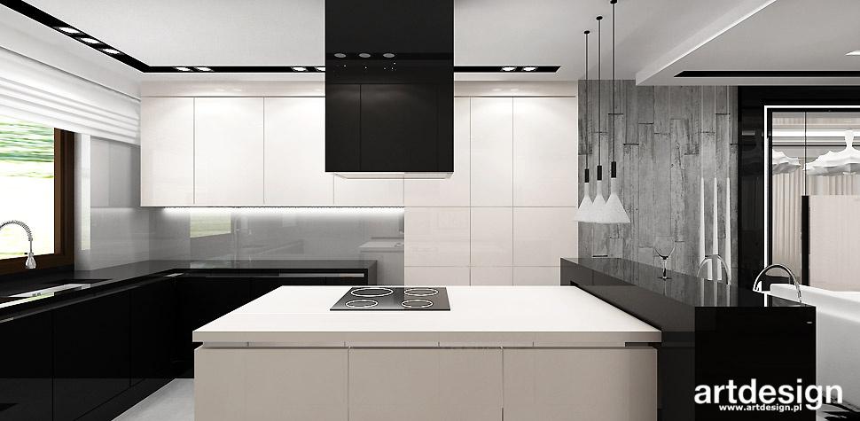 FRESH PERSPECTIVES  Projekt wnętrz  W2  Projektowanie   -> Kuchnia Bialo Czarna Galeria