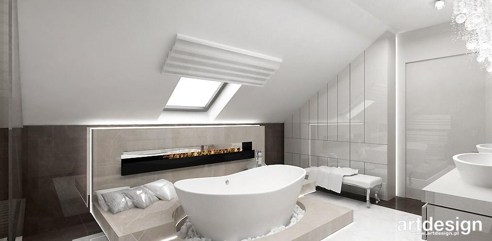 łazienka na poddaszu design