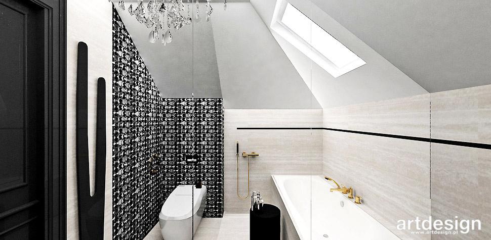 projekt łazienka czarno bezowa