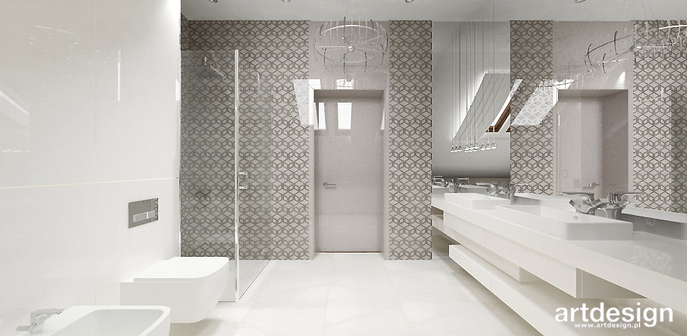 biało bezowa duża łazienka