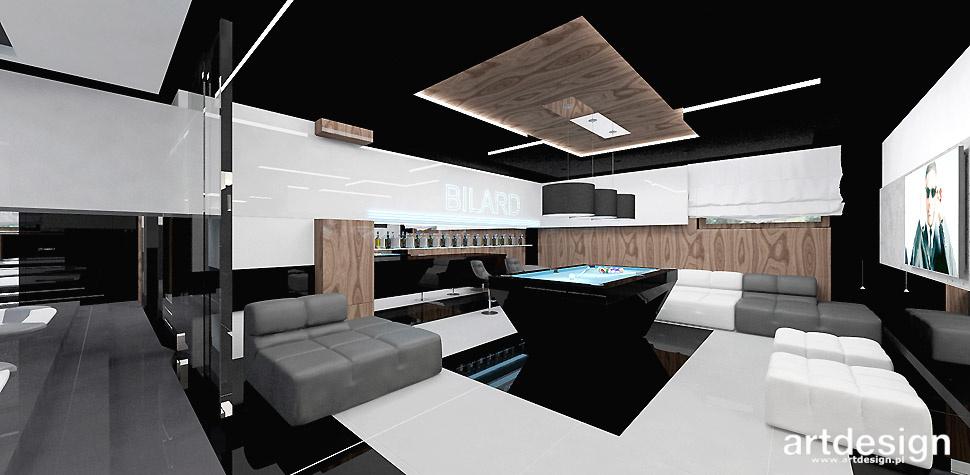 luksusowy dom rekreacja bilard