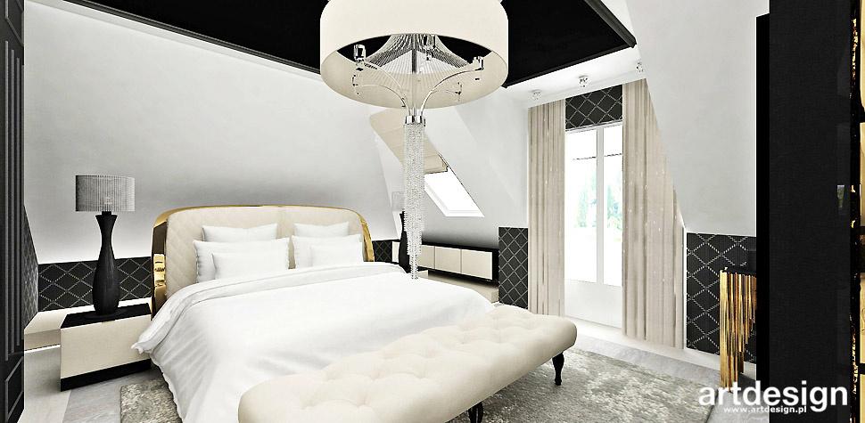 luksusowe wnętrza projekty sypialnia