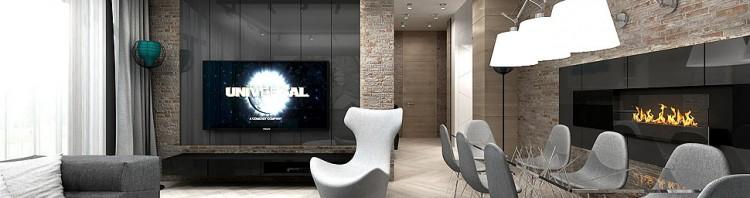 projekt mieszkania wnętrze salon