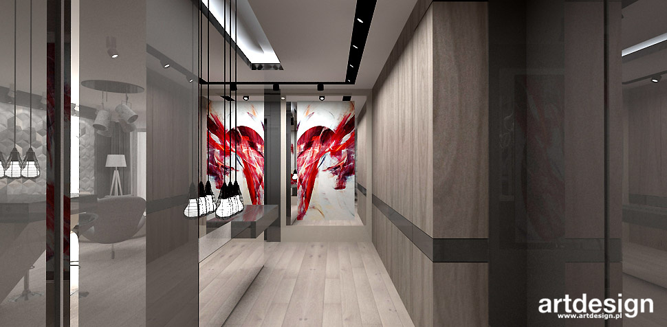 projektowanie wnętrz domu korytarz