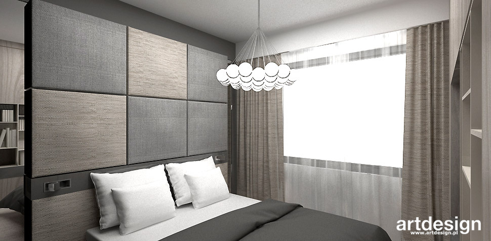nowoczesna sypialnia projekt wnętrza