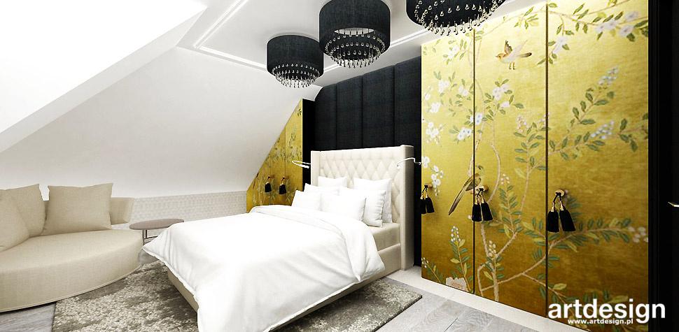 oryginalna aranżacja sypialnia design