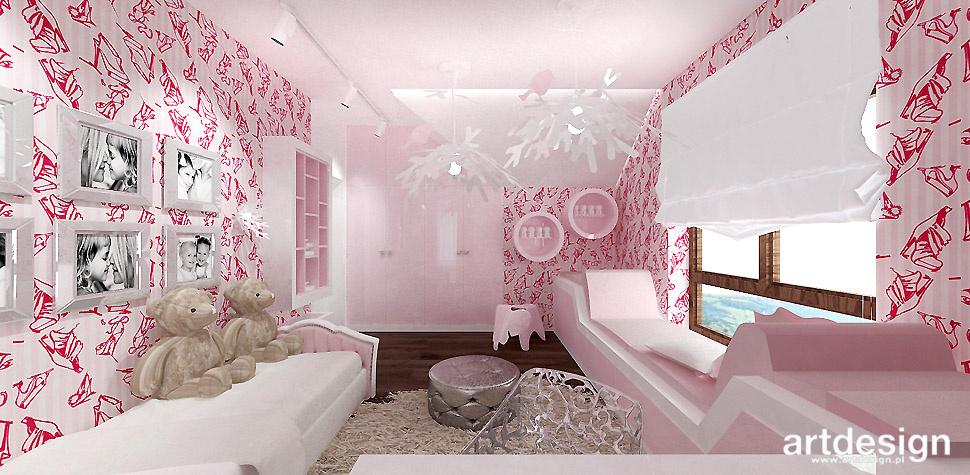 pokój dziewczynki rożnowy kolor