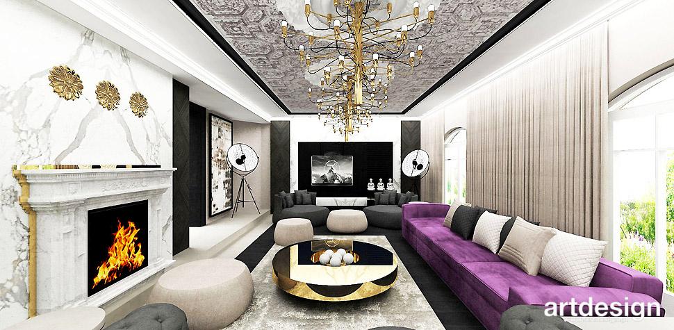 sufit stylizowany salon wnętrze