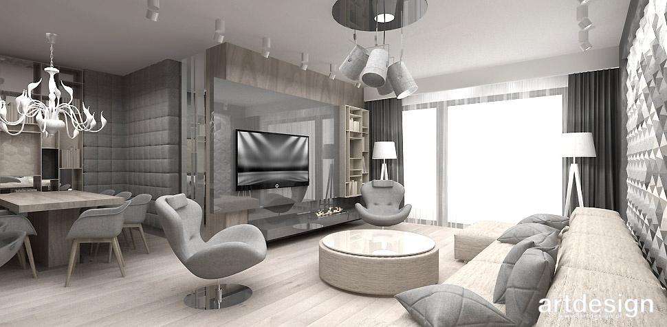 salon z jadalnia wnętrze mieszkanie
