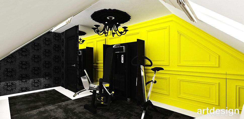 fitness w domu wnętrza aranżacje