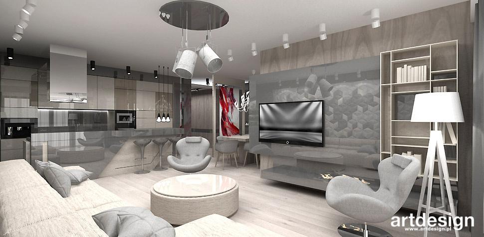 salon z kuchnia najlepsze projekty