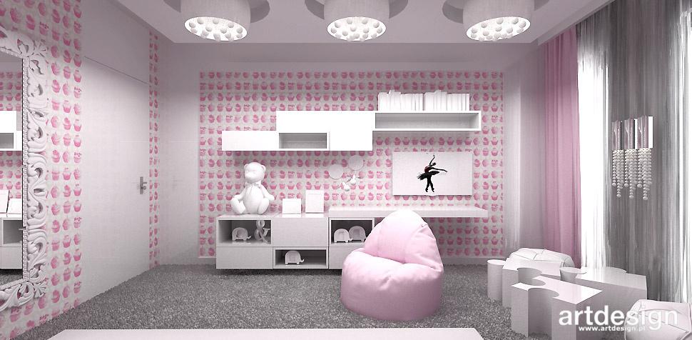 pokój córki rożowy kolor