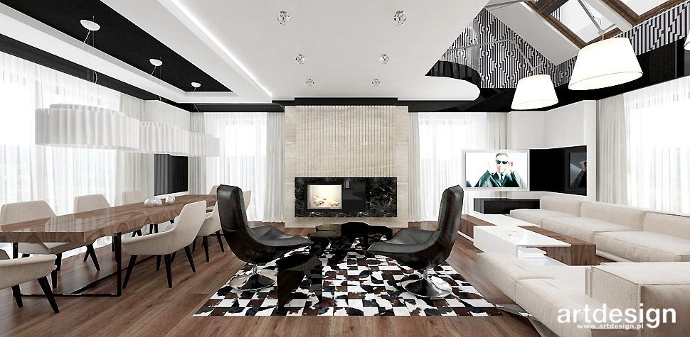nowoczesny salon projekt domu