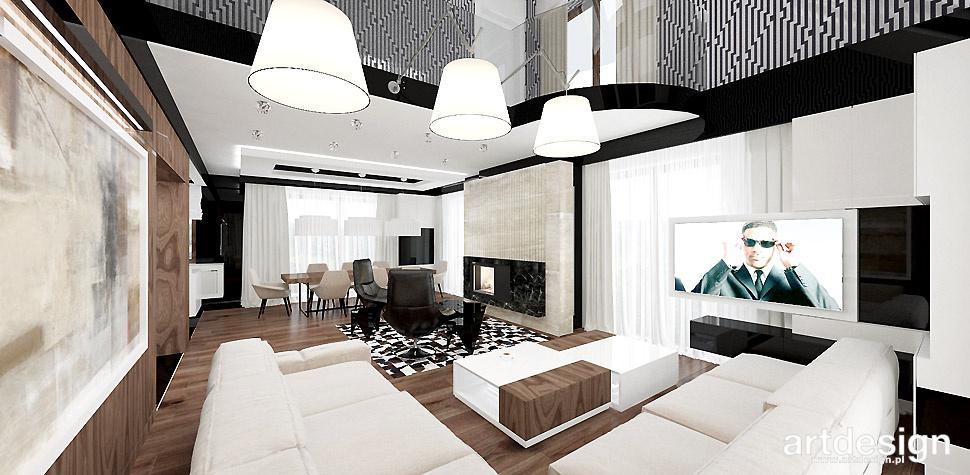 nowoczesne wnętrza projekty salon