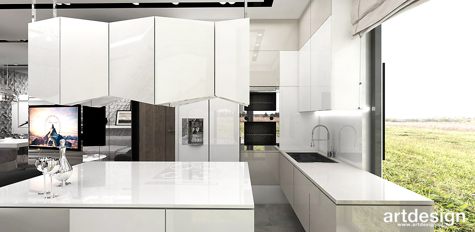 projekt domu nowoczesna kuchnia