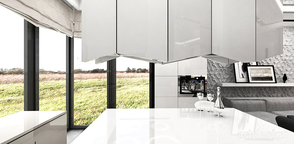ANTHOLOGY 01  Wnętrza domu  Projektowanie wnętrz ARTDESIGN -> Kuchnia Okap Wyspa