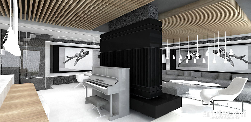 pianino we wnętrzu