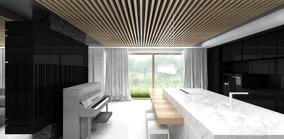 drewniany sufit inspiracje