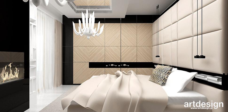 sypialnia z kominkiem projekt