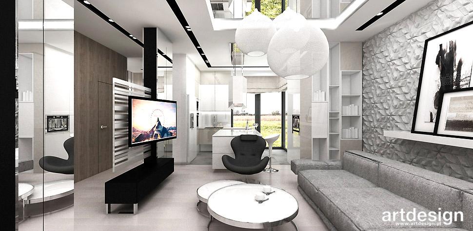 salon z kuchnia nowoczesne wnętrza