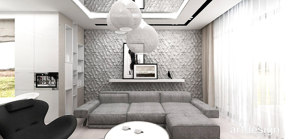 dekoracyjna ściana salon