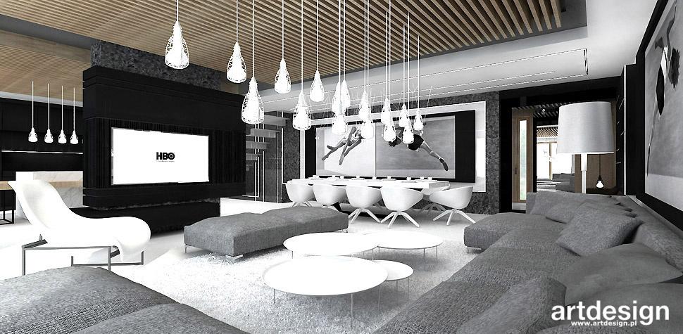 projekt salonu architekt wnętrz