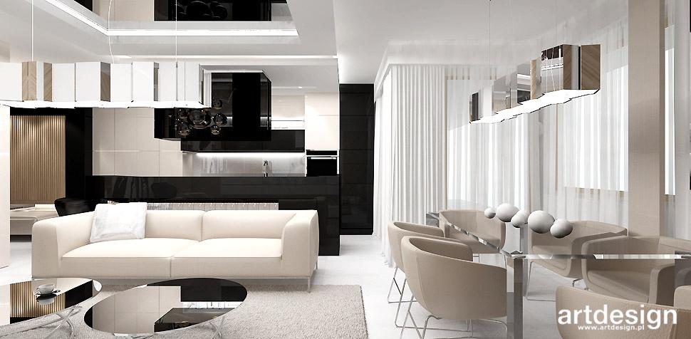 bezowe wnętrza apartament