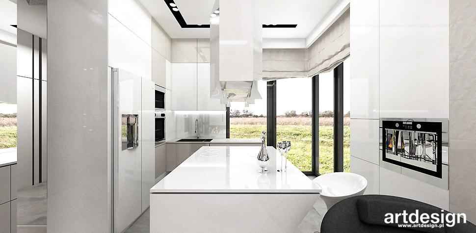 biała kuchnia nowoczesne projekty wnętrz