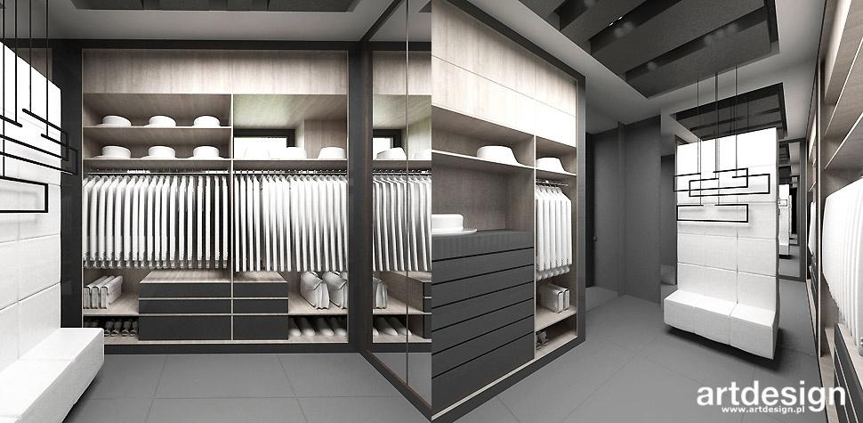 projekt garderoby wnetrze