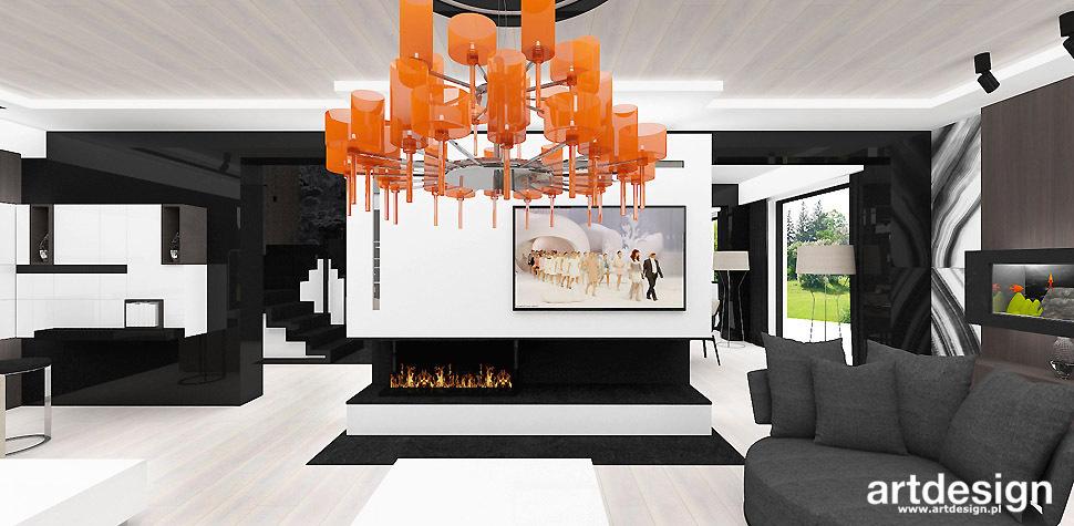 salon nowoczesny projekt
