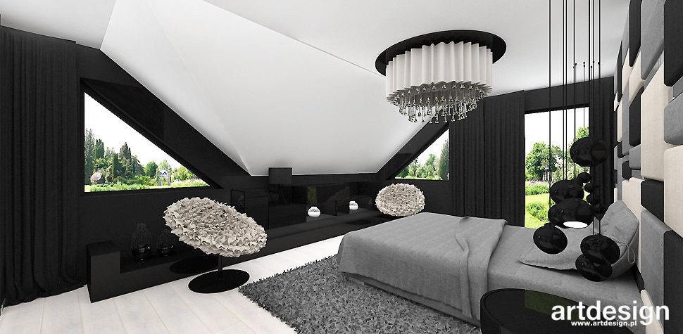 designerskie wnetrze sypialnia