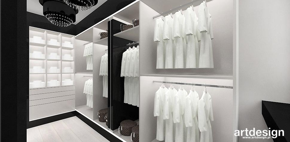 elegancka garderoba projekt wnetrza