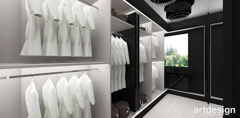 luksusowy dom garderoba