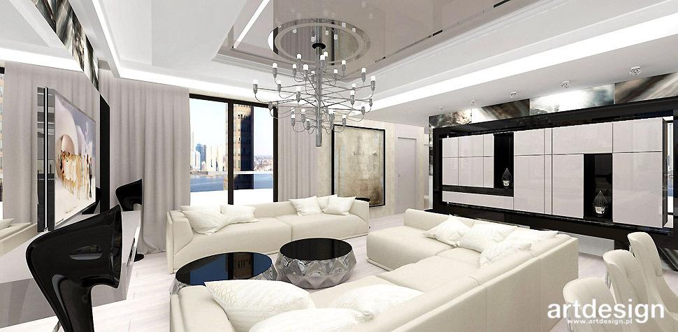 projekt salonu apartament krakow