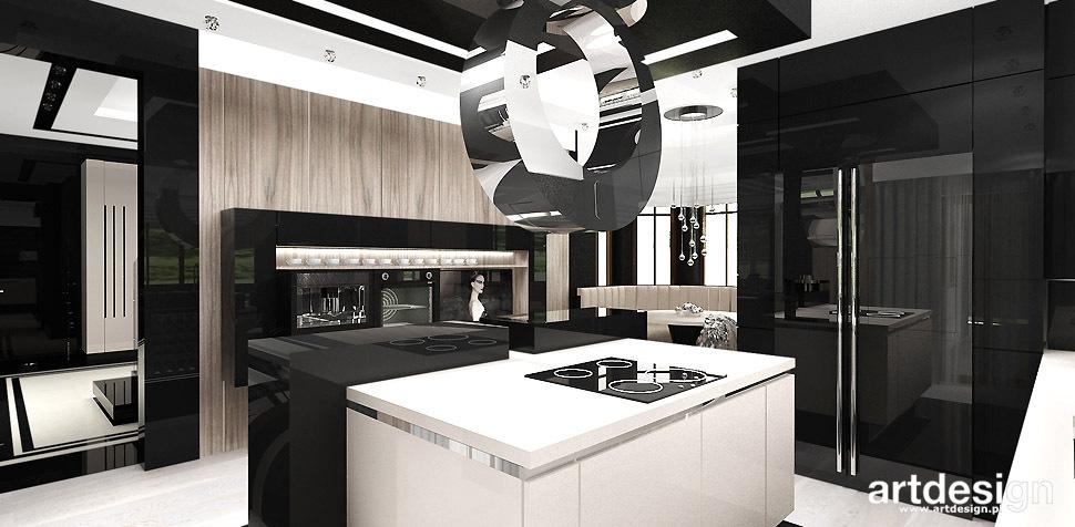 projekt kuchni dekoracyjny okap