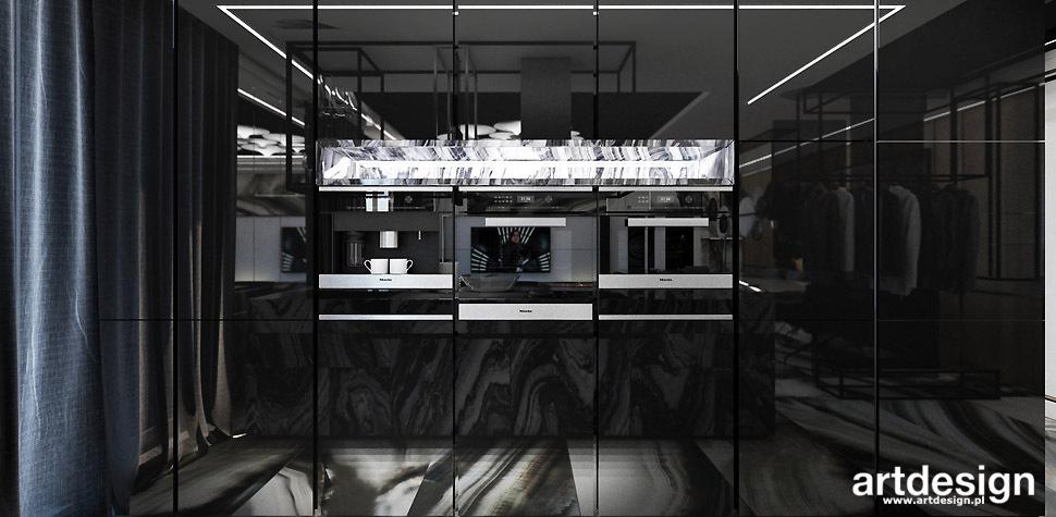czarna nowoczesna kuchnia