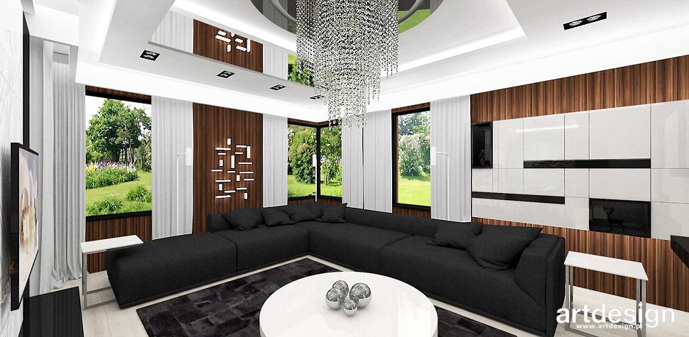 nowoczesny salon projekt wnetrza