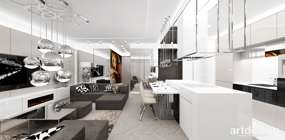 designerskie mieszkanie projekt