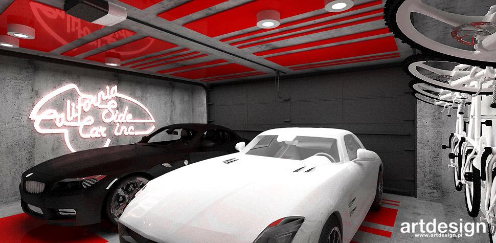 garaz wnetrza projekty