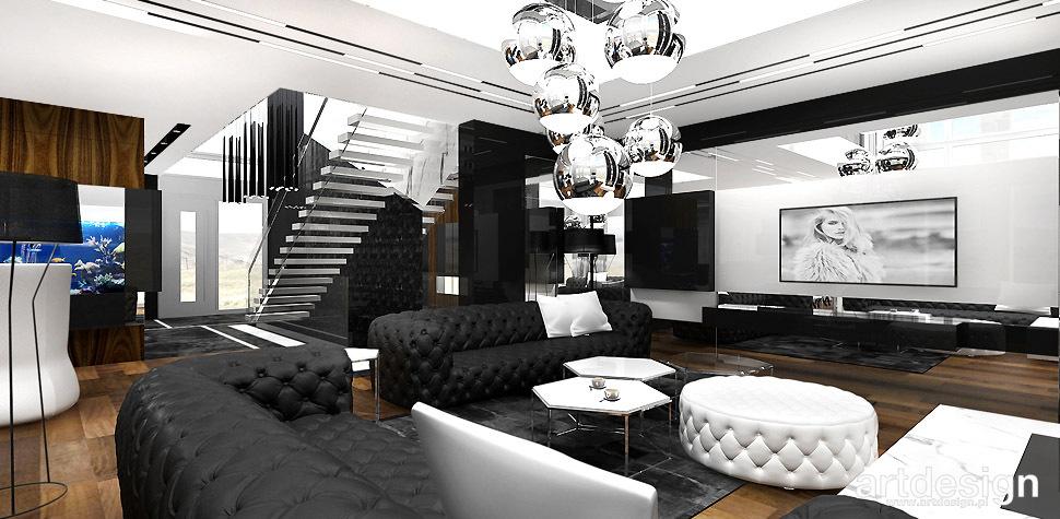 projekt salonu wnetrza
