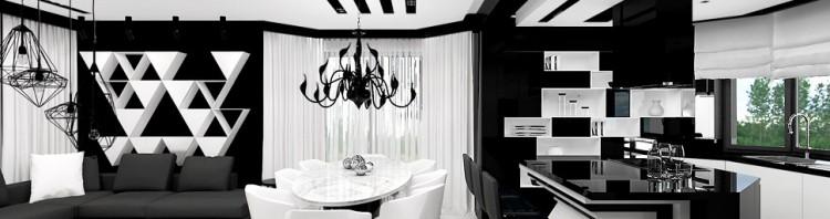 architektura wnetrz salon kuchnia