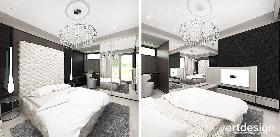 projekty sypialni aranżacje