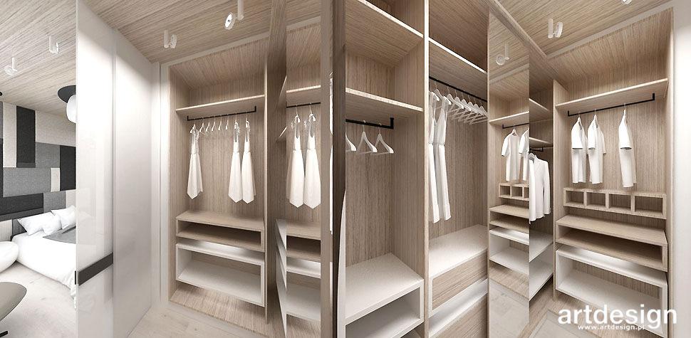 projekt garderoby przy sypialni