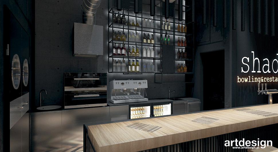 projekt restauracji klubu bar