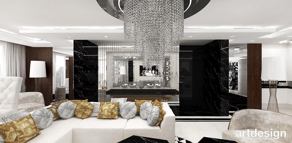 projekt salonu styl glamour
